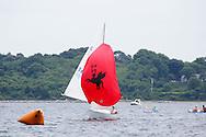 _V0A8089. ©2014 Chip Riegel / www.chipriegel.com. The 2014 Bullseye Class National Regatta, Fishers Island, NY, USA, 07/19/2014. The Bullseye is a Nathaniel Herreshoff designed 15' Marconi rig sailing boat.
