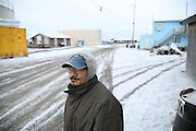 Kivalina artist Ralph P. Knox in Kivalina, Alaska.