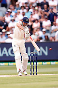Alistair Cook plays a backfoot cover drive during day three of the Australia v England fourth test at the Melbourne Cricket Ground, Melbourne, Australia on 28 December 2017. Photo by Mark  Witte.