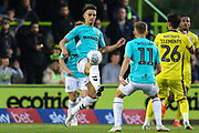 Forest Green Rovers Liam Shephard(2) controls the ball during the EFL Trophy match between Forest Green Rovers and Cheltenham Town at the New Lawn, Forest Green, United Kingdom on 4 September 2018.