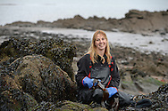 Fiona Houston, chief executive at Mara Seaweed photographed for BQ Magazine on the coastline at Granton, Edinburgh<br /> <br />  Neil Hanna Photography<br /> www.neilhannaphotography.co.uk<br /> 07702 246823