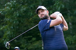 September 4, 2017 - Norton, Massachusetts, United States - Marc Leishman tees off the 18th hole during the final round of the Dell Technologies Championship at TPC Boston. (Credit Image: © Debby Wong via ZUMA Wire)