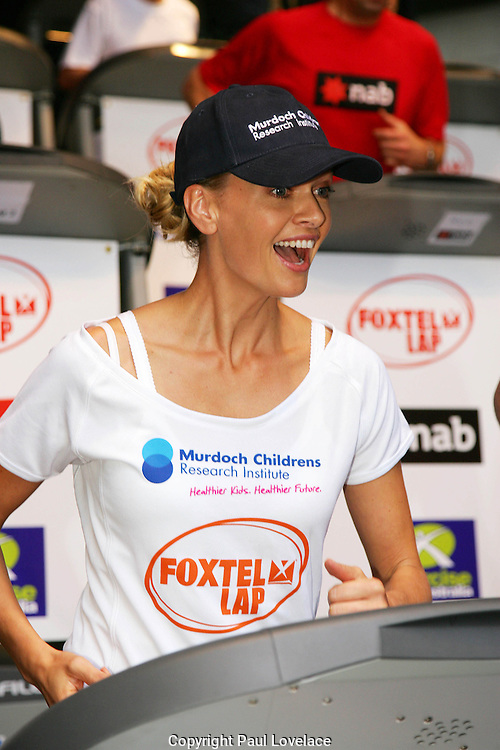 "Murdoch Childrens Research Institute Fundraiser Event, Sydney - Australia 14 Sep 2007.Pics: Paul Lovelace 14 Sep 2007 Sarah Murdoch takes part in her charity event to raise money for Murdoch Research Institute [ MCRI], Australia's leading children's medical research body..The one day staged public event, will see corporate teams compete to run as many 100m ""laps"" as they can on treadmills to raise money for MCRI..Pics: Paul Lovelace 14/Sep/2007 .[ Total 27 pics].[ Non Exclusive]"