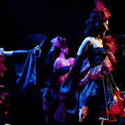 "April 9, 2011 - Manhattan, NY : The all-girl Japanese group SalmÈ performs on Saturday evening at the ""Concert For Japan,"" a 12-hour charity event put on by the Japan Society.  (This was taken during the Open Concert: Taiko & Rock/Pop  Music set)... CREDIT: Karsten Moran for The New York Times."