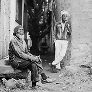 Portrait of Ras Rudolph Rodney and Ras Fitsum, Shashamane, Ethiopia.