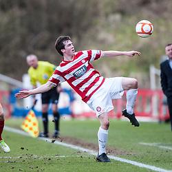 Hamilton's Louis Routledge..Hamilton 1 v 2 Falkirk, Scottish Cup quarter-final, Saturday, 2nd March 2013..©Michael Schofield.