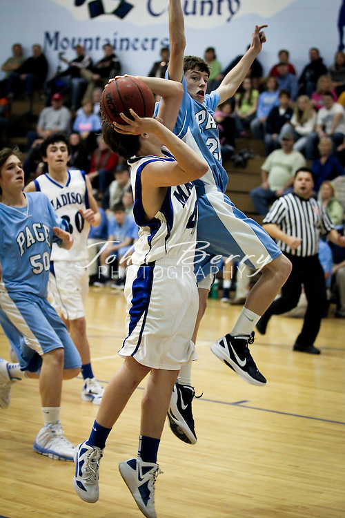 December/30/11:  MCHS JV Boys Basketball vs Page.  Madison loses to Page 48-41.