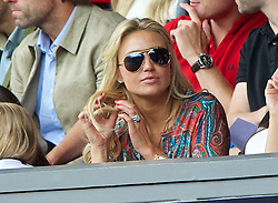 03.08.2013, Anfield Stadion, Liverpool, ENG, Testspiel, Liverpool FC vs Olympiakos CFP, im Bild Alex Gerrard, wife of Liverpool's captain Steven Gerrard, in the Director's Box during a preseason friendly match against Olympiakos CFP at Anfield during the friendly Match between Liverpool FC and Olympiakos CFP at the Anfield Stadion, Liverpool, England on 2013/08/03. EXPA Pictures © 2013, PhotoCredit: EXPA/ Propagandaphoto/ David Rawcliffe<br /> <br /> ***** ATTENTION - OUT OF ENG, GBR, UK *****