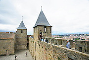 Carcassonne is a fortified French town in the Aude department, in the Region of Languedoc-Roussillon, France