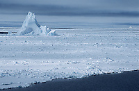 Antarctica Weddell Sea iceberg in ice field