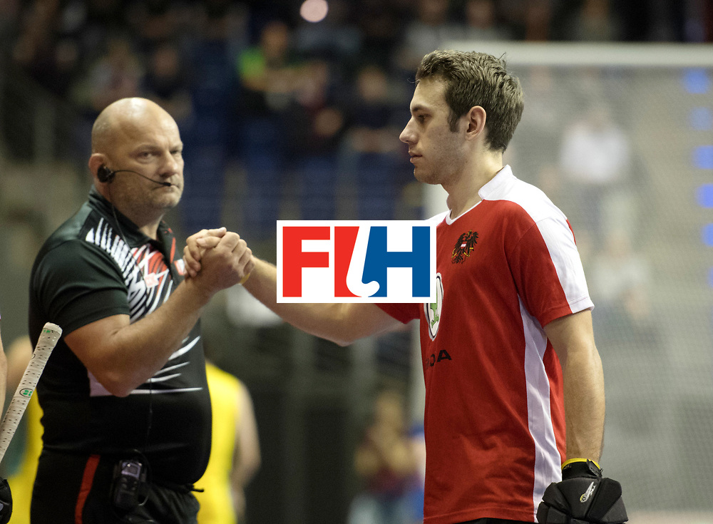 BERLIN - Indoor Hockey World Cup<br /> SF2 Australia - Austria<br /> foto: HORSCHINEGG Harald<br /> WORLDSPORTPICS COPYRIGHT FRANK UIJLENBROEK