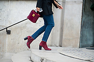 Burgundy Bag and Boots, Outside Ellery FW2017 3
