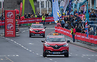 Renault Forward Command Vehicles cross Tower Bridge.  The Virgin Money London Marathon, 23rd April 2017.<br /> <br /> Photo: Bob Martin for Virgin Money London Marathon<br /> <br /> For further information: media@londonmarathonevents.co.uk