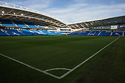 General view of the American Express Community Stadium following the Premier League match between Brighton and Hove Albion and Burnley at the American Express Community Stadium, Brighton and Hove, England on 14 September 2019.