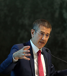 Turkish Deputy Prime Minister Nurettin Canikli speaks at the 9th Investment Advisory Council Meeting at Dolmabahce Prime Ministry Office in Istanbul, Turkey on October 27, 2016. Photo by Depo Photos/ABACAPRESS.COM