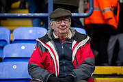 Bolton Wanderers fan  before  the EFL Sky Bet League 1 match between Bolton Wanderers and Wycombe Wanderers at the University of  Bolton Stadium, Bolton, England on 15 February 2020.