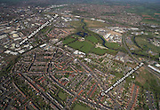 aerial photograph of Crewton  Derby  Derbyshire UK