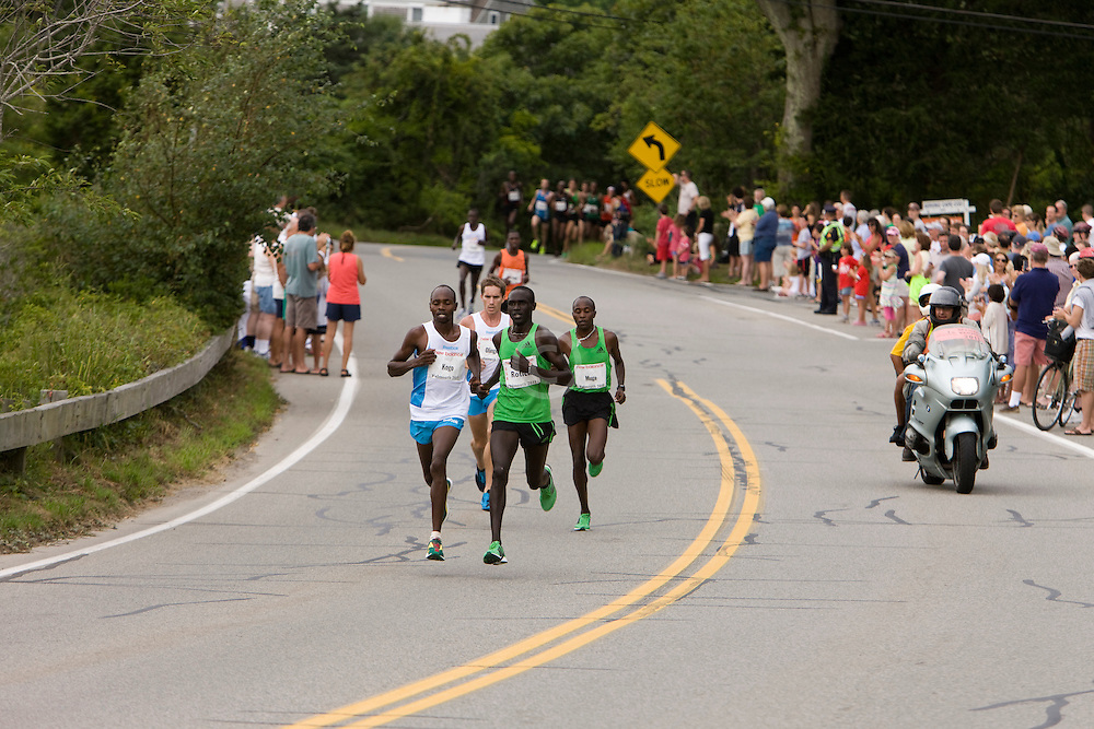 lead runners at mile three, KOGO, ROTICH, MUGE, OLINGER,