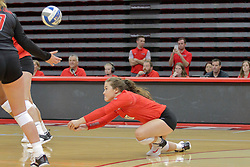 19 August 2017:  Megan Beutke during a college women's volleyball match Scrimmage of the Illinois State Redbirds at Redbird Arena in Normal IL (Photo by Alan Look)