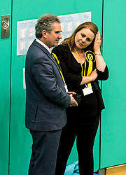 A nervous SNP candidate for Kirkcaldy &amp; Cowdenbeath William Mullin talks with one of his activists.<br /> <br /> &copy; Dave Johnston/ EEm