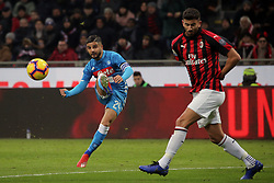 January 26, 2019 - Milan, Milan, Italy - Lorenzo Insigne #24 of SSC Napoli in action during the serie A match between AC Milan and SSC Napoli at Stadio Giuseppe Meazza on January 26, 2018 in Milan, Italy. (Credit Image: © Giuseppe Cottini/NurPhoto via ZUMA Press)
