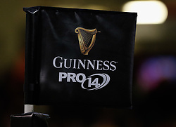 A general view of Principality Stadium banner, flag<br /> <br /> Photographer Simon King/Replay Images<br /> <br /> Guinness PRO14 Round 21 - Cardiff Blues v Ospreys - Saturday 28th April 2018 - Principality Stadium - Cardiff<br /> <br /> World Copyright © Replay Images . All rights reserved. info@replayimages.co.uk - http://replayimages.co.uk