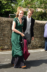 BEN & KATE GOLDSMITH at the wedding of Hugh van Cutsem to Rose Astor in Burford, Oxfordshire on 4th June 2005.<br />