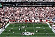 TUSCALOOSA, AL - SEPTEMBER 20: Jabriel Washington #23 of the Alabama Crimson Tide breaks up a pass against Quinton Dunbar #1 of the Florida Gators during the game at Bryant-Denny Stadium on September 20, 2014 in Tuscaloosa, Alabama. (Photo by Joe Robbins)