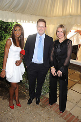 Left to right, PHOEBE VELA, MATTHEW d'ANCONA editor of The Spectator and NIKKI BEDI at the Spectator Summer Party held at 22 Old Queen Street, London SW1 on 3rd July 2008.<br /><br />NON EXCLUSIVE - WORLD RIGHTS