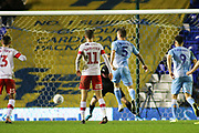 Kyle McFadzean of Coventry City (5) misses a glorious chance to score during the EFL Sky Bet League 1 match between Coventry City and Rotherham United at the Trillion Trophy Stadium, Birmingham, England on 25 February 2020.
