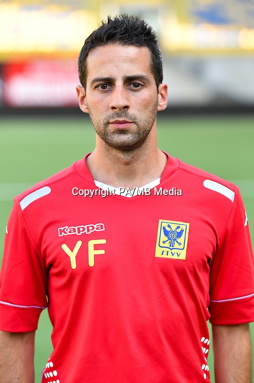 STVV's head coach Yannick Ferrera poses for the photographer during the 2015-2016 season photo shoot of Belgian first league soccer team STVV, Friday 17 July 2015 in Sint-Truiden.