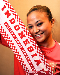 JAKARTA, INDONESIA - Tuesday, July 16, 2013: Liverpool supporter Yustesia Mulia ahead of the Reds' visit to Indonesia as part of their Preseason Tour. (Pic by David Rawcliffe/Propaganda)