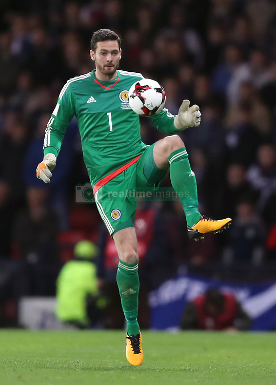Scotland Goalkeeper Craig Gordon During The 2018 Fifa World Cup Qualifying Group F Match At