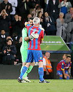 Crystal Palace boss Alan Pardew and Julian Speroni - Crystal Palace v Dundee - Julian Speroni testimonial match at Selhurst Park<br /> <br />  - © David Young - www.davidyoungphoto.co.uk - email: davidyoungphoto@gmail.com
