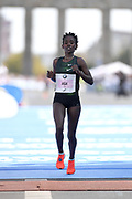 Aga Ruti (ETH) places second in the women's race in 2:18:34 during the 45th Berlin Marathon in Berlin, Germany, Sunday, Sept. 16, 2018.. (Jiro Mochizuki/Image of Sport)