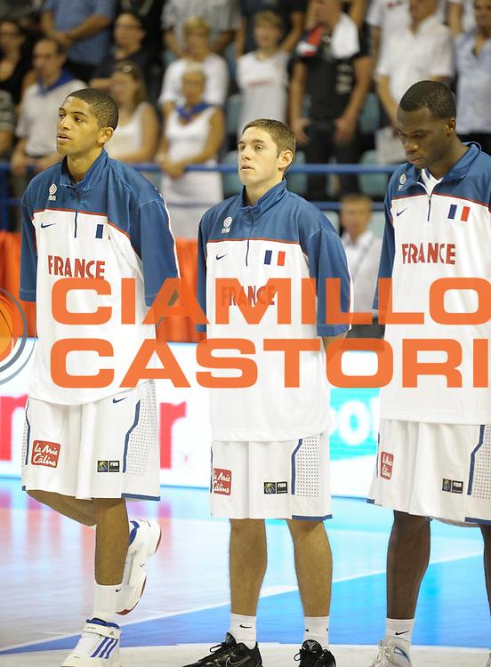 DESCRIZIONE : Equipe de France A Preparation Championnat du monde France Tunisie Homme Pau<br /> GIOCATORE : Causeur Fabien<br /> SQUADRA : France<br /> EVENTO : France Basket Homme 2010<br /> GARA : France Tunisie<br /> DATA : 07/08/2010<br /> CATEGORIA : Basketball Action Homme<br /> SPORT : Basketball<br /> AUTORE : JF Molliere FFBB par Agenzia Ciamillo-Castoria <br /> Galleria : France Basket Homme 2010 <br /> Fotonotizia : France A Homme 2009-10 France Tunisie Preparation Championnat du Monde Pau <br /> Predefinita :