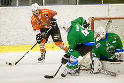 ZIBELNIK Andraz of HK SZ Olimpija during hockey match between HK SZ Olimpija (SLO) and Rittner Buam (ITA) in 1st round of Alps Hockey League 2017/18, on September 13, 2017 in Tivoli, Ljubljana, Slovenia. Photo by Urban Urbanc / Sportida