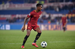December 5, 2017 - Rome, Italy - Gerson of Roma during the UEFA Champions League match between Roma and Qarabag at Stadio Olimpico, Rome, Italy on 5 December 2017  (Credit Image: © Giuseppe Maffia/NurPhoto via ZUMA Press)