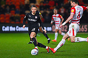 Jordan Williams of Barnsley (22) in action during the EFL Sky Bet League 1 match between Doncaster Rovers and Barnsley at the Keepmoat Stadium, Doncaster, England on 15 March 2019.