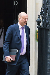 Downing Street, London, October 20th 2015.  Leader of the Commons Chris Grayling leaves 10 Downing Street after attending the weekly cabinet meeting.