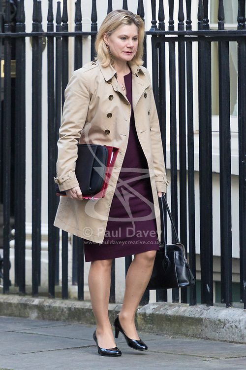 Downing Street, London, March 21st 2017. Education Secretary Justine Greening attends the weekly cabinet meeting at 10 Downing Street.