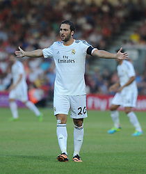 Real Madrid's Gonzalo Higuain - Photo mandatory by-line: Alex James/JMP  - Tel: Mobile:07966 386802 20/07/2013 -Bournemouth vs Real Madrid  - SPORT - FOOTBALL -  Dean Court-Bournemouth - Real Madrid -