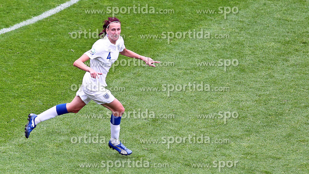 09.07.2011, FIFA Frauen-WM-Stadion Leverkusen, Leverkusen, GER, FIFA Women Worldcup 2011, Viertelfinale, England (ENG) vs. Frankreicht (FRA), im Bild:  Torjubel / Jubel  nach dem 1:0 durch Jill Scott (England).. // during the FIFA Women´s Worldcup 2011, Quaterfinal, England vs France on 2011/07/09, FIFA Frauen-WM-Stadion Leverkusen, Leverkusen, Germany.   EXPA Pictures © 2011, PhotoCredit: EXPA/ nph/  Mueller *** Local Caption ***       ****** out of GER / CRO  / BEL ******