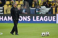 FUSSBALL  CHAMPIONS LEAGUE  HALBFINALE  HINSPIEL  2012/2013      Borussia Dortmund - Real Madrid              24.04.2013 Trainer Jose Mourinho (Real Madrid)