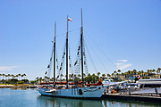 3-Mast Sailboat at Rainbow Harbor in Long Beach