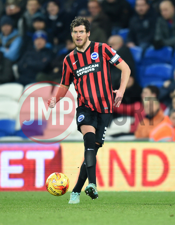 Brighton and Hove Albion's Gordon Greer in action during the Sky Bet Championship match between Cardiff City and Brighton & Hove Albion at Cardiff City Stadium on 10 February 2015 in Cardiff, Wales - Photo mandatory by-line: Paul Knight/JMP - Mobile: 07966 386802 - 10/02/2015 - SPORT - Football - Cardiff - Cardiff City Stadium - Cardiff City v Brighton & Hove Albion - Sky Bet Championship