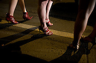 Vigilia realizada a favor de la diversidad sexual y de los derechos de los transexuales que laboran en la Av. Libertador de Caracas, Venezuela. Los transexuales marcharon bajo el lema: ¡No soy DIANA! ¡No juegues al tiro al blanco conmigo! en vista de la violencia desmedida de la cual son víctimas. Caracas, 26 junio de 2009. (ivan gonzalez)