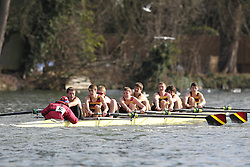 2012.02.25 Reading University Head 2012. The River Thames. Division 1. Shiplake College Boat Club J18A 8+
