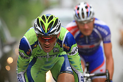 Gorazd Stangelj of Slovenia (Liquigas) escaped but he was caught in Novo mesto in last 4th stage of the 15th Tour de Slovenie from Celje to Novo mesto (157 km), on June 14,2008, Slovenia. (Photo by Vid Ponikvar / Sportal Images)/ Sportida)