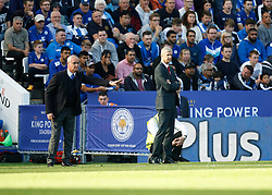 Leicester City Manager Claudio Ranieri (L) and Arsenal Manager Arsene Wenger  - Mandatory byline: Jack Phillips/JMP - 07966386802 - 26/09/2015 - SPORT - FOOTBALL - Leicester - King Power Stadium - Leicester City v Arsenal - Barclays Premier League
